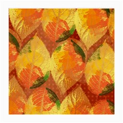 Fall Colors Leaves Pattern Medium Glasses Cloth (2 Side) by DanaeStudio