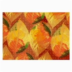 Fall Colors Leaves Pattern Large Glasses Cloth (2 Side)