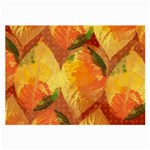 Fall Colors Leaves Pattern Large Glasses Cloth (2-Side) Back