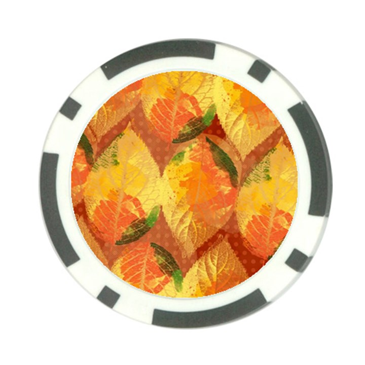 Fall Colors Leaves Pattern Poker Chip Card Guards