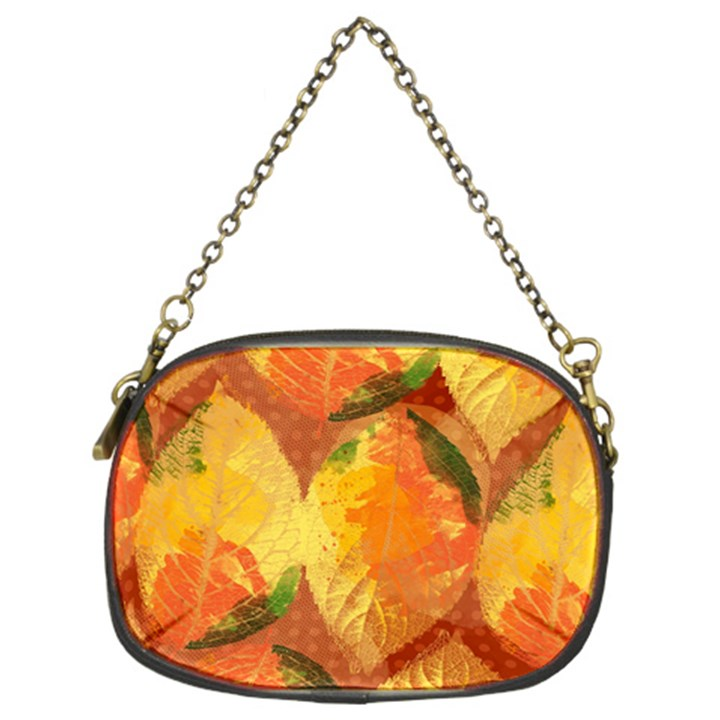 Fall Colors Leaves Pattern Chain Purses (Two Sides)