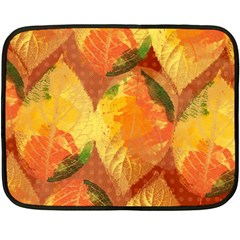 Fall Colors Leaves Pattern Double Sided Fleece Blanket (mini)