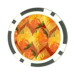 Fall Colors Leaves Pattern Poker Chip Card Guards (10 pack)  Front