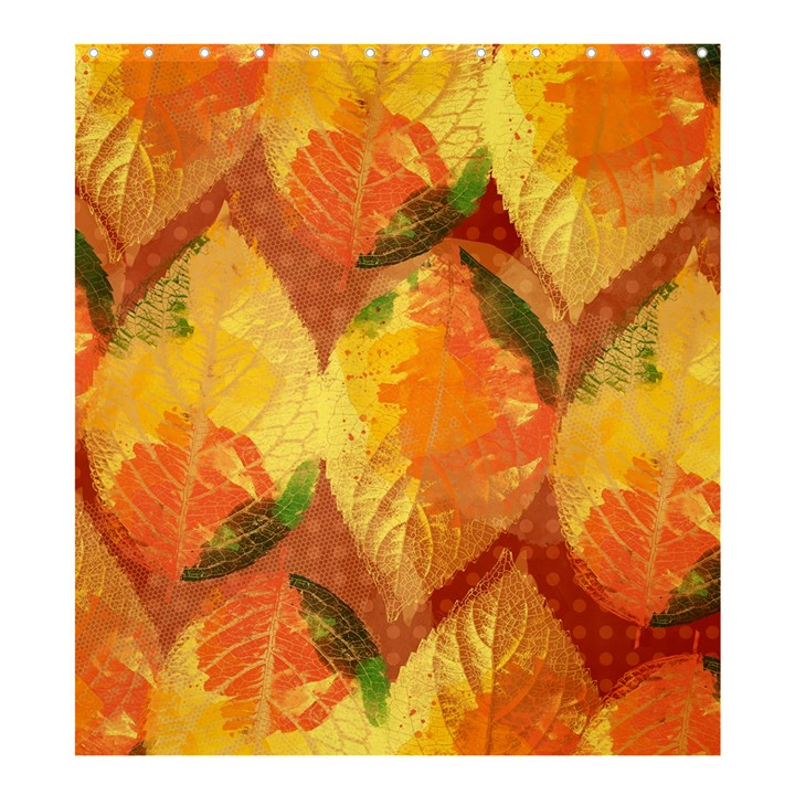 Fall Colors Leaves Pattern Shower Curtain 66  x 72  (Large)