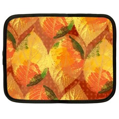 Fall Colors Leaves Pattern Netbook Case (xl)  by DanaeStudio