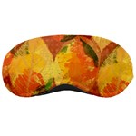 Fall Colors Leaves Pattern Sleeping Masks Front