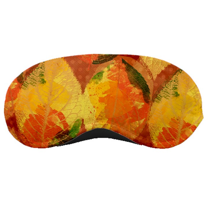 Fall Colors Leaves Pattern Sleeping Masks