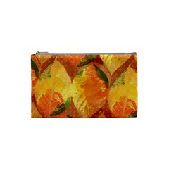 Fall Colors Leaves Pattern Cosmetic Bag (small)  by DanaeStudio