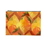 Fall Colors Leaves Pattern Cosmetic Bag (Large)  Front