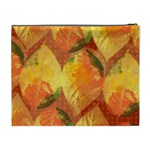 Fall Colors Leaves Pattern Cosmetic Bag (XL) Back