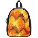 Fall Colors Leaves Pattern School Bags (Small)  Front