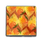 Fall Colors Leaves Pattern Memory Card Reader (Square) Front