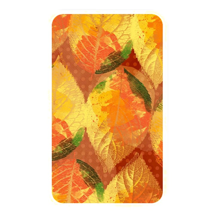 Fall Colors Leaves Pattern Memory Card Reader