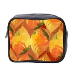 Fall Colors Leaves Pattern Mini Toiletries Bag 2-Side Front