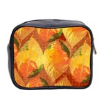 Fall Colors Leaves Pattern Mini Toiletries Bag 2-Side Back