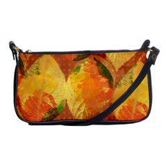 Fall Colors Leaves Pattern Shoulder Clutch Bags by DanaeStudio