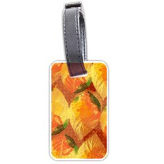 Fall Colors Leaves Pattern Luggage Tags (one Side)  by DanaeStudio