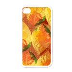 Fall Colors Leaves Pattern Apple iPhone 4 Case (White) Front
