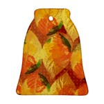 Fall Colors Leaves Pattern Bell Ornament (2 Sides) Back