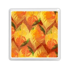 Fall Colors Leaves Pattern Memory Card Reader (Square)
