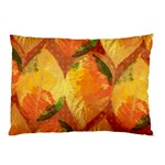 Fall Colors Leaves Pattern Pillow Case (Two Sides) Back