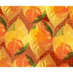Fall Colors Leaves Pattern Deluxe Canvas 14  x 11  14  x 11  x 1.5  Stretched Canvas