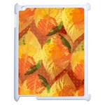 Fall Colors Leaves Pattern Apple iPad 2 Case (White) Front