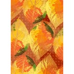 Fall Colors Leaves Pattern Heart 3D Greeting Card (7x5) Inside