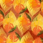 Fall Colors Leaves Pattern Merry Xmas 3D Greeting Card (8x4) Inside