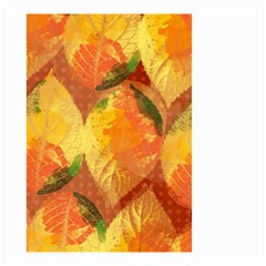 Fall Colors Leaves Pattern Small Garden Flag (two Sides) by DanaeStudio