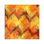 Fall Colors Leaves Pattern Acrylic Tangram Puzzle (6  x 6 ) Front