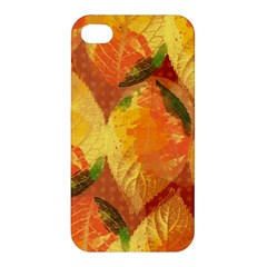 Fall Colors Leaves Pattern Apple Iphone 4/4s Premium Hardshell Case by DanaeStudio