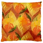 Fall Colors Leaves Pattern Large Cushion Case (Two Sides) Back