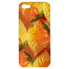 Fall Colors Leaves Pattern Apple Iphone 5 Hardshell Case by DanaeStudio
