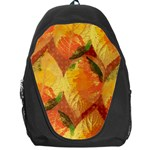 Fall Colors Leaves Pattern Backpack Bag Front
