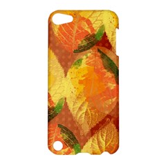 Fall Colors Leaves Pattern Apple Ipod Touch 5 Hardshell Case by DanaeStudio