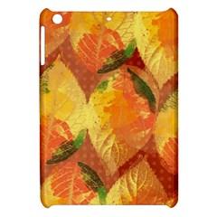 Fall Colors Leaves Pattern Apple Ipad Mini Hardshell Case by DanaeStudio