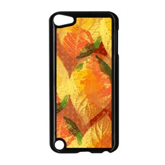 Fall Colors Leaves Pattern Apple Ipod Touch 5 Case (black) by DanaeStudio
