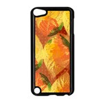 Fall Colors Leaves Pattern Apple iPod Touch 5 Case (Black) Front