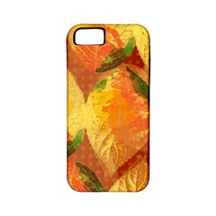 Fall Colors Leaves Pattern Apple Iphone 5 Classic Hardshell Case (pc+silicone) by DanaeStudio