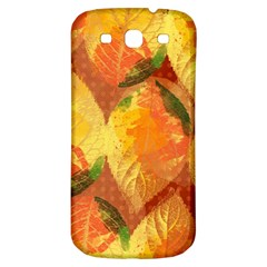 Fall Colors Leaves Pattern Samsung Galaxy S3 S Iii Classic Hardshell Back Case by DanaeStudio