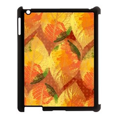 Fall Colors Leaves Pattern Apple Ipad 3/4 Case (black) by DanaeStudio