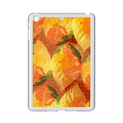 Fall Colors Leaves Pattern Ipad Mini 2 Enamel Coated Cases by DanaeStudio