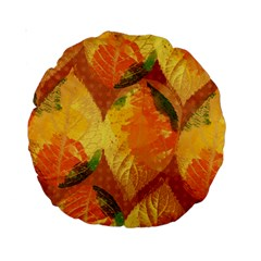 Fall Colors Leaves Pattern Standard 15  Premium Round Cushions by DanaeStudio
