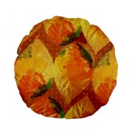 Fall Colors Leaves Pattern Standard 15  Premium Round Cushions Front