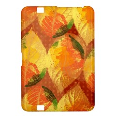 Fall Colors Leaves Pattern Kindle Fire Hd 8 9  by DanaeStudio
