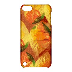 Fall Colors Leaves Pattern Apple Ipod Touch 5 Hardshell Case With Stand by DanaeStudio