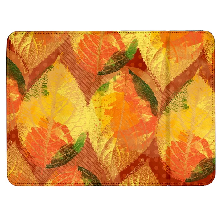 Fall Colors Leaves Pattern Samsung Galaxy Tab 7  P1000 Flip Case