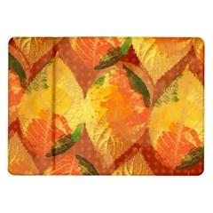 Fall Colors Leaves Pattern Samsung Galaxy Tab 10.1  P7500 Flip Case