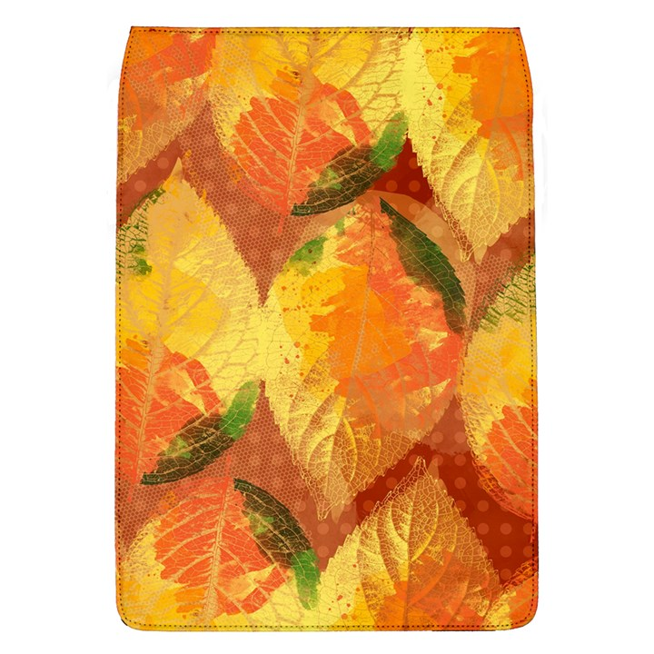 Fall Colors Leaves Pattern Flap Covers (L)